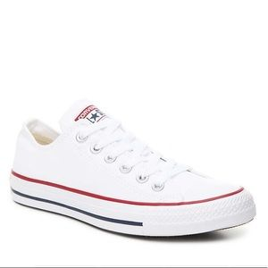 White Low Top Converse Size 7.5